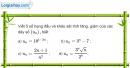 Bài 3.9 trang 117 SBT đại số và giải tích 11