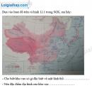 Bài 1 trang 15 Tập bản đồ Địa lí 8