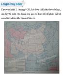 Bài 1 trang 5 Tập bản đồ Địa lí 8