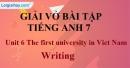 Writing  - Unit 6 VBT tiếng anh 7 mới