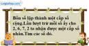 Bài 3.31 trang 131 SBT đại số và giải tích 11