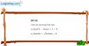 Bài 2 trang 36 sgk giải tích 11