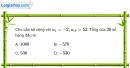 Bài 3.25 trang 124 SBT đại số và giải tích 11