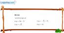 Bài 1 trang 41 SGK Đại số 10