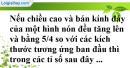 Bài 21 trang 168 SBT toán 9 tập 2