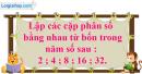 Bài 16 trang 7 SBT toán 6 tập 2
