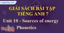 Phonetics -  Unit 10 – SBT tiếng Anh 7 mới