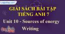 Writing – Unit 10 – SBT tiếng Anh 7 mới