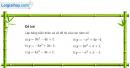 Bài 2 trang 49 SGK Đại số 10