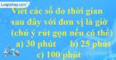 Bài 28 trang 10 SBT toán 6 tập 2