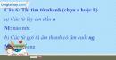 B. Hoạt động thực hành - Bài 11A: Đất lành chim đậu