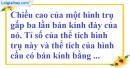 Bài 40 trang 173 SBT toán 9 tập 2