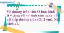 Bài 45 trang 107 SBT toán 9 tập 2