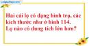 Bài 49 trang 175 SBT toán 9 tập 2