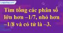 Bài 64 trang 18 SBT toán 6 tập 2