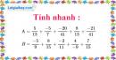 Bài 71 trang 20 SBT toán 6 tập 2
