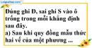 Phần câu hỏi bài 5 trang 17 Vở bài tập toán 8 tập 2