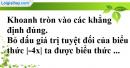 Phần câu hỏi bài 5 trang 54 Vở bài tập toán 8 tập 2