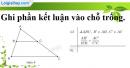 Phần câu hỏi bài 2 trang 68 Vở bài tập toán 8 tập 2