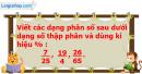 Bài 67 trang 63 Vở bài tập toán 6 tập 2