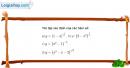Bài 1 trang 60 SGK Giải tích 12