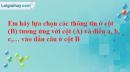 Câu hỏi 1 trang 104 Vở bài tập Sinh học 7