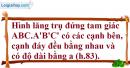 Phần câu hỏi bài 6 trang 127 Vở bài tập toán 8 tập 2