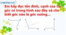 A. Hoạt động cơ bản - Bài 25 : Hai đường thẳng vuông góc