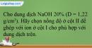 Bài 25.11 trang 56 SBT Hóa học 12