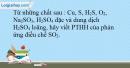 Bài 32.8 trang 70 SBT Hóa học 10