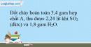 Bài 32.9 trang 71 SBT Hóa học 10