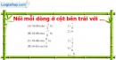 Phần câu hỏi bài 9 trang 39 Vở bài tập toán 6 tập 2