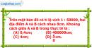 Phần câu hỏi bài 16 trang 75, 76 Vở bài tập toán 6 tập 2