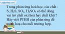 Bài 32.15 trang 72 SBT Hóa học 10