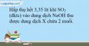 Bài 32.18 trang 72 SBT Hóa học 10