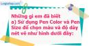A. Hoạt động cơ bản - Bài 6: Thay đổi màu và nét vẽ bằng câu lệnh