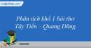 Phân tích khổ 1 bài thơ Tây Tiến của Quang Dũng