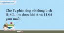 Bài 33.18 trang 76 SBT Hóa học 10