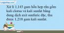 Bài 33.16 trang 75 SBT Hóa học 10