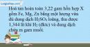 Bài 33.19 trang 76 SBT Hóa học 10