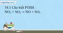 Bài 34.1, 34.2, 34.3, 34.4 trang 76 SBT Hóa học 10