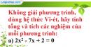 Bài 36 trang 57 SBT toán 9 tập 2