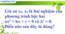 Bài 5.1, 5.2, 5.3 phần bài tập bổ sung trang 56 SBT toán 9 tập 2