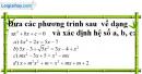 Bài 3.1 phần bài tập bổ sung trang 52 SBT toán 9 tập 2