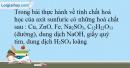 Bài 33.11 trang 74 SBT Hóa học 10