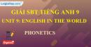 Phonetics - Unit 9 - SBT tiếng Anh 9 mới