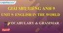 Vocabulary & Grammar -  Unit 9 -  SBT tiếng Anh 9 mới