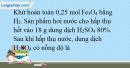 Bài 34.7 trang 78 SBT Hóa học 10