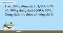 Bài 34.6 trang 77 SBT Hóa học 10