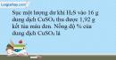 Bài 34.9 trang 78 SBT Hóa học 10
